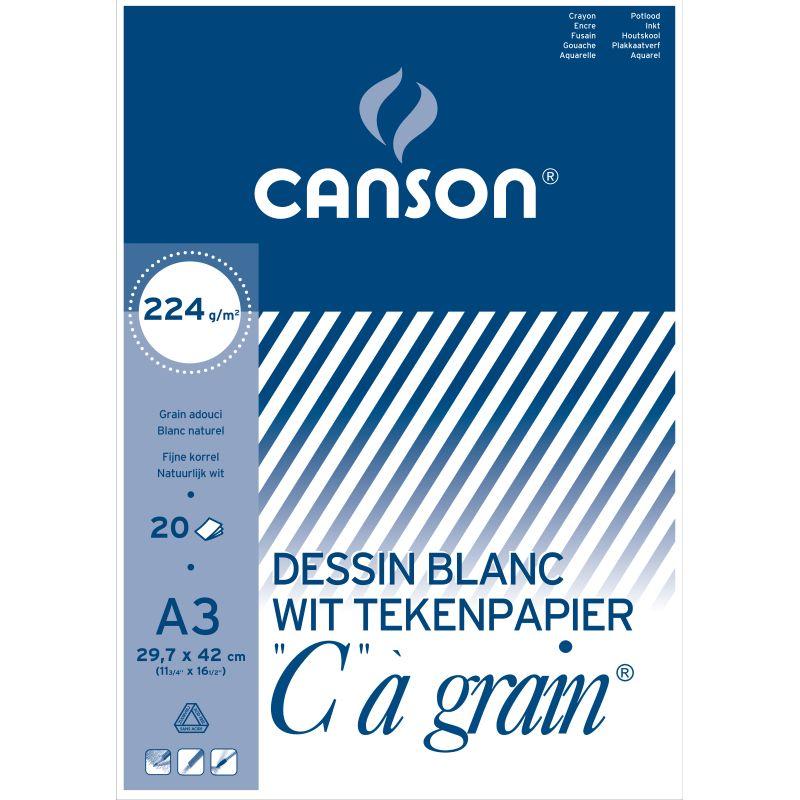 Boc de dessin Canson 20 feuilles A3 224 g