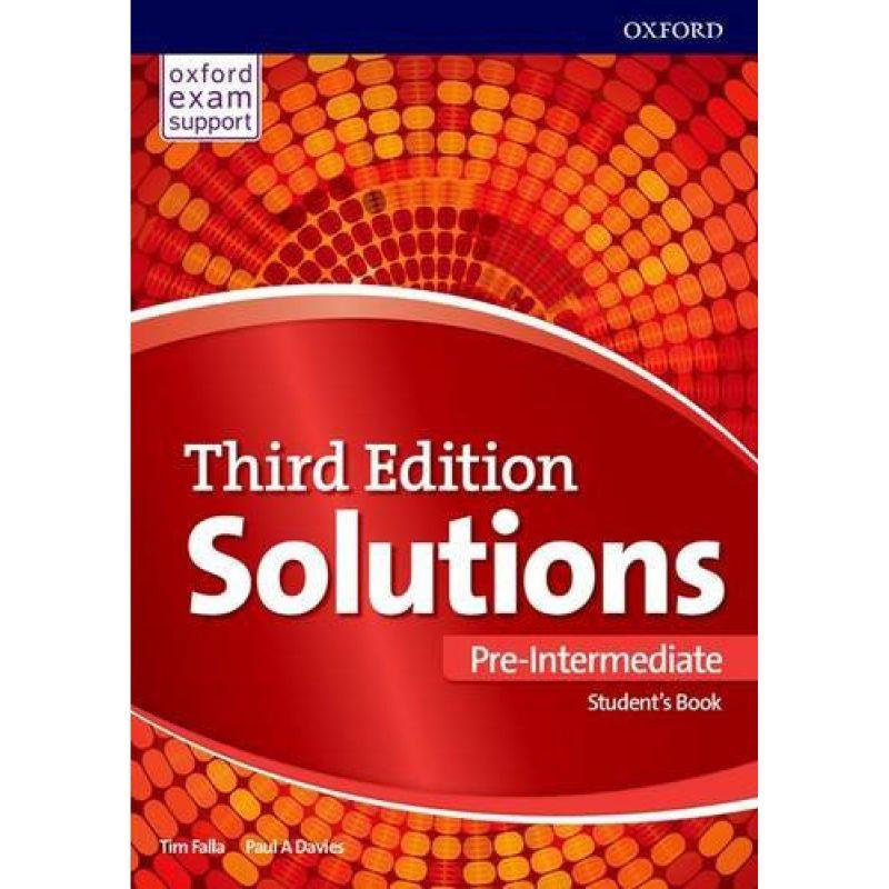 Solutions Third Pre-Intermediate Student Book